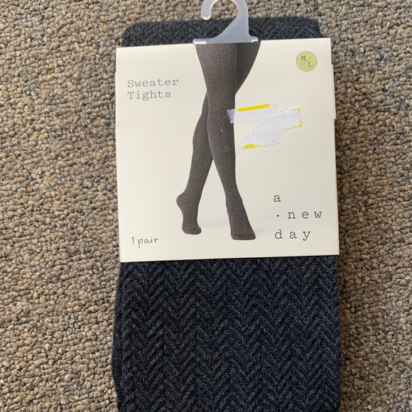 A new day NWT gray sweater tights m/l